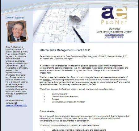 ProNetwork News: Internal Risk Management – Part 2 of 2