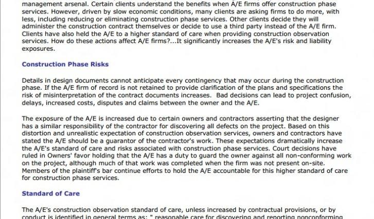 Construction Observation: Important Risk Management Service
