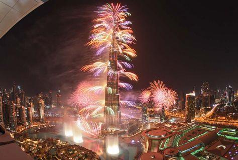 Burj Khalifa 2012 Fireworks. Photo via arabianbusiness.com.
