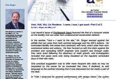 Veni, Vidi, Vici, Lis Pendens:  I came, I saw, I got sued - Part 2 of 2