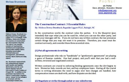 The Construction Contract: 3 Essential Rules