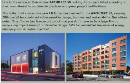 Leddy Maytum Stacy Architects No. 1 in Sustainable Design