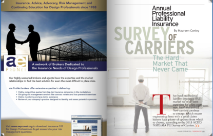 Engineering Inc. - 2013 Professional Liability Insurance Survey of Carriers