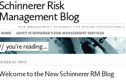 The NEW Schinnerer Risk Management Blog