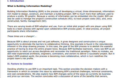 ProNet Practice Notes: Is BIM right for you and your project?