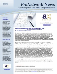 PNN_201401_Design Professionals and the Dodd-Frank Act