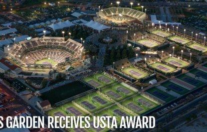 World's Second-Largest Tennis Stadium Receives Highest USTA Award