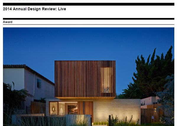 TAT House Wins Architect Mag's 2014 Annual Design Review Award