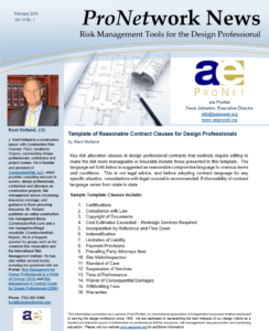 Indemnification Clause Templates for Architects & Engineers - a/e Pronet