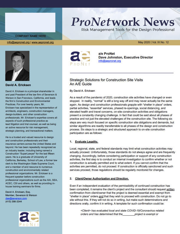 Strategic Solutions for Construction Site Visits An A/E Guide